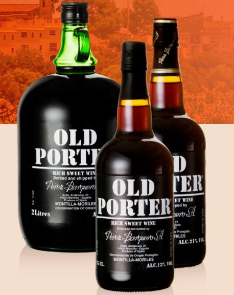Sladké španělské víno Old Porter